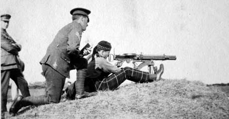 Firing The Lewis Gun